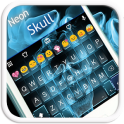 Neon Skull Emoji Keyboard Skin