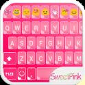Sweet Pink Emoji keyboard Skin