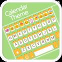 Calendar Emoji Keyboard Theme