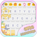 Cute Snow Flake Emoji Keyboard