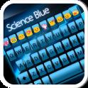Science Blue Emoji Keyboard