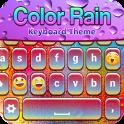 Color Rain Keyboard Theme