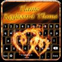 Flamme Tastatur Thema