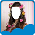 Flowers Hairstyle Photo Editor