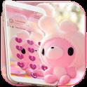 Cute Bear Theme Pink Bow Bear