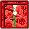 Zipper Lock Screen Rose
