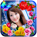 Photo Editor & Photo Frames Rose Flower Background