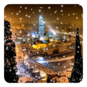 Snow Night City Live Wallpaper