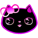 Neon Lily Kitty Live Wallpaper