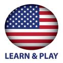 Aprender e jogar. EUA Inglês +