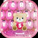 Pink Glitter Keyboard Changer