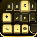 Golden Black Cheetah Keyboard