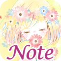 Simple Notepad Flowery Kiss