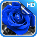 Blue Rose Live Wallpaper HD