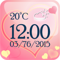 Love Weather Clock Widget