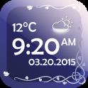 날씨와 디지털 시계