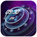 星座時計&天気ウィジェット(ユニーク、透明、リアルタイム)