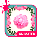 Pink Roses Animated Keyboard + Live Wallpaper