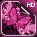 Pink Butterfly Live Wallapper
