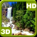 Nice Tall Cascade Waterfall 3D