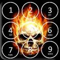 Skull Pin Screen Lock