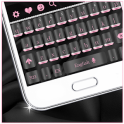 Luxury Black Silk Keyboard Theme
