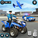 US Police ATV Quad Bike Plane Transport Game