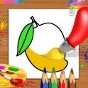 libro para colorear y dibujar frutas - niños Juego