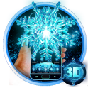 3D Frozen Snowflake Winter theme