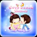 Cute Cartoon Lover Wallpaper