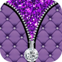 Purple Diamond Zipper Screen