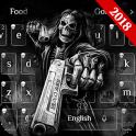 Death skull Gun Theme Keyboard