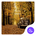 Yellow Autumn Leaves theme & HD wallpapers