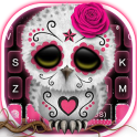 Sugar Skull Owl Keyboard Theme