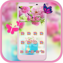 Spring Flower Theme pink flower