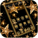 Gold Star Theme Wallpaper Lux Black Gold