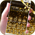 Gold Glitter theme Neon Gold