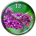Lilac Flowers Clock Live WP
