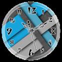 Blue Grey Clock Live Wallpaper