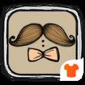 Mustache & Bowknot Launcher Theme