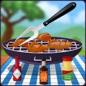 BBQ Buffalo Wings Cooking