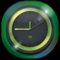 3D Neon Green Clock