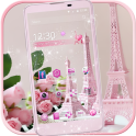 Pink Rose Eiffel Tower Theme
