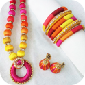 Silk Thread Jewellery Designs