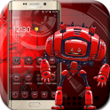 Red Cute Robot Theme
