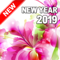 Happy New Year 2019 (Flowers)