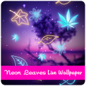 Neon Leaves Live Wallpaper