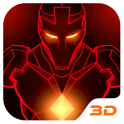 Red Iron Hero 3D Theme