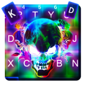 Smoke effect 3D Colorful Skull Keyboard