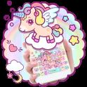 Cute Rainbow Unicorn Keyboard